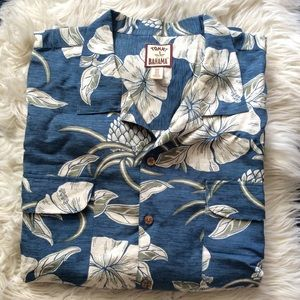 Tommy Bahama Hawaiian shirt silk linen blend XXL